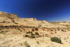 Den en Miljon-dollar vägen från stenblocket till Escalante, USA Fotografering för Bildbyråer