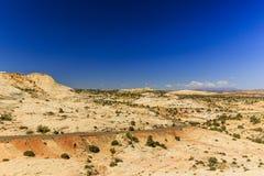 Den en Miljon-dollar vägen från stenblocket till Escalante, USA Royaltyfri Foto