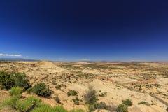 Den en Miljon-dollar vägen från stenblocket till Escalante, USA Arkivbilder