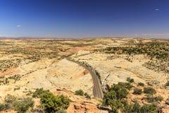 Den en Miljon-dollar vägen från stenblocket till Escalante, USA Royaltyfria Foton