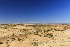 Den en Miljon-dollar vägen från stenblocket till Escalante, USA Royaltyfri Bild