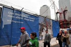 Den en World Trade Centerplatsen Arkivfoto