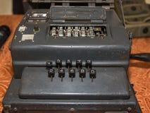 Den Enigma nollamaskinen från världskrig II arkivbilder