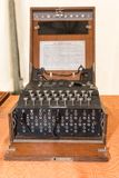 Den Enigma nollamaskinen från världskrig II royaltyfri fotografi