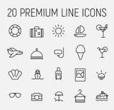 Den enkla samlingen av rumservice gällde linjen symboler royaltyfri illustrationer