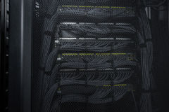 Den enorma servicen för moln för datorhallserverrum Royaltyfri Fotografi