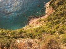 Den enorma sikten av vaggar uppifrån, Zakynthos, Grekland Royaltyfri Fotografi