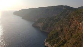 Den enorma sikten av vaggar uppifrån, Zakynthos, Grekland Royaltyfria Foton