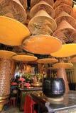 Den enorma spiralen retar upp på En-mor templet, Macao Arkivbild