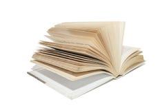 Den ensamma boken med öppna sidor Royaltyfria Foton