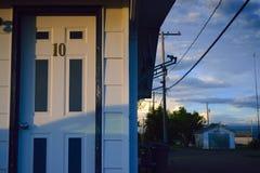 Den ensamma dörren Arkivfoto