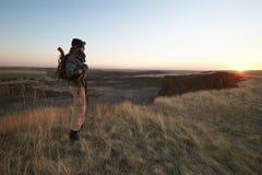 Den ensamma soldaten Arkivbilder