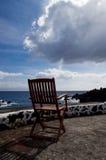 Den ensamma stolen Arkivfoto