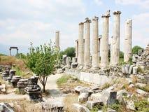 Den Ephesus antikviteten fördärvar av den forntida staden arkivbild