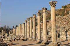 Den Ephesus antikviteten fördärvar av den forntida staden i Turkiet royaltyfria foton