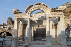 Den Ephesus antikviteten fördärvar av den forntida staden i Turkiet royaltyfri foto
