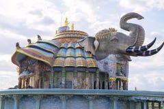 Den erawan elefanten Arkivfoton