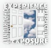 Den erfarenhetsNew Horizons dörren öppnar att leda till tillfället stock illustrationer