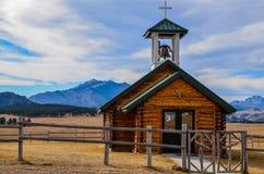 Den Esterbrook kyrkan i Wyoming Royaltyfria Bilder