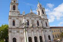 Den Estrela basilikan eller kunglig personbasilika arkivbild