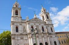Den Estrela basilikan eller kunglig personbasilika arkivfoton