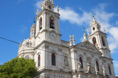 Den Estrela basilikan eller kunglig personbasilika royaltyfri fotografi