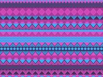 Den etniska sömlösa modellen, violeten och blått färgar Stam- textiler, hippiestil För tapet sänglinne, tegelplattor, tyger stock illustrationer
