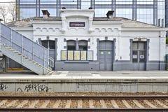 Den Etterbeek stationen i denhuvudstad regionen arkivfoto