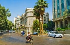 Den europeiska fjärdedelen i Kairo Arkivfoton