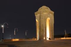 _ Den eviga flammaminnesmärken i Baku Arkivfoto