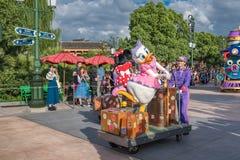 Den expresss Mickey's sagoboken ståtar på Shanghai Disneyland i Shanghai, Kina arkivbild
