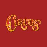 Den färggranna inskriften av cirkusen Royaltyfri Foto