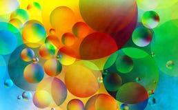 Den färgrika abstrakt begrepp bubblar Arkivfoton