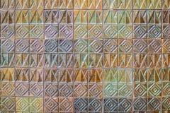 Den färgrika abstrakta väggen för keramiska tegelplattor för mosaiken texturerade modellen för Fotografering för Bildbyråer