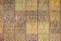 Den färgrika abstrakta väggen för keramiska tegelplattor för mosaiken texturerade modellen för Arkivbilder