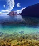 Den färgrika fantasin landskap Royaltyfria Bilder