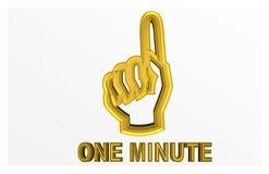 Den färgrika illustrationen av en ` en minut behar ` som ska explodera vektor illustrationer