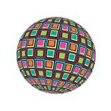 Den färgrika mosaiken för 3D Sguare framför textur Illustration_1 för bakgrund för världsjordklotvektorn stock illustrationer