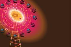 Pariserhjul vektor illustrationer