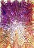 Den färgrika pyramiden texturerar Arkivbild
