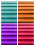 Den färgrika takmetallen royaltyfri foto