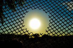 Den fångade solen Fotografering för Bildbyråer
