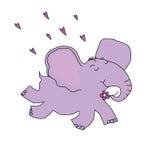 Den förälskade elefanten flyger på öronen Royaltyfria Foton