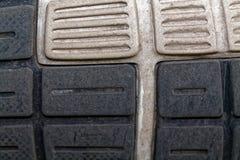 Den föråldrade skon sular textur, sportbakgrund Arkivbilder
