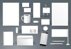 den företags identiteten mer min portfölj ställer in mallen Brännmärka design Bokstavskuvert, Arkivbilder