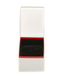 Den förpackande asken öppnar på vit Royaltyfria Bilder