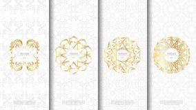 Den förpackande islamiska modellen för mallen planlägger beståndsdelbegreppsbackgr Arkivfoton