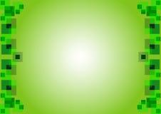 Den försiktiga gröna bakgrunden med fyrkanter Royaltyfri Fotografi
