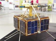 Den första Czechoslovak satellit- Magionen 1 Arkivbild