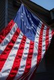 Den första flaggan av Förenta staterna med stjärna 13 Arkivbild